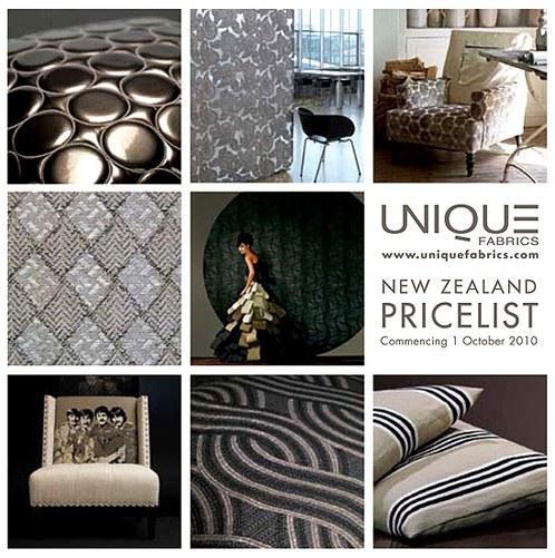 Pricelist Unique Fabrics