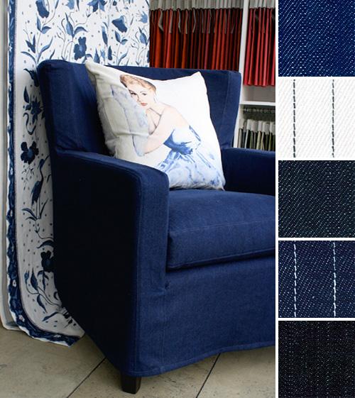 Interior Design Denim fabric