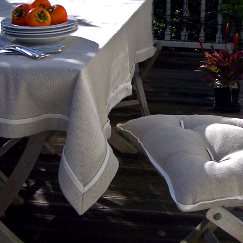 Raw Linen tablecloth