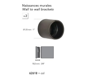 62618 2 Recess Brkts 20mm