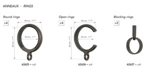 62625 6 Round Rings 20mm