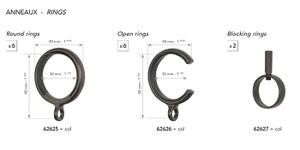 62626 6 Open Rings 20mm
